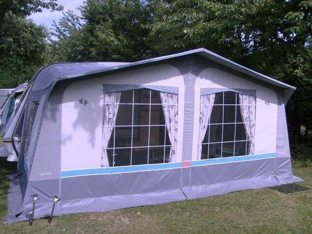Caravan awning , Trio make with curtains and poles . Super ...