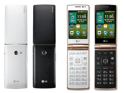 LG Wine Smart F480  Black Flip Phone With Android Mobile Phone