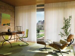 New Hunter Douglas Luminette Remote Controlled Blind For Sale