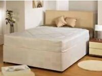 Brand new double divan bed with ortrhoepic mattress
