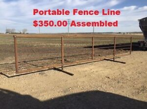 Portable Fence Line - Welded/Complete Or Unwelded/Packaged