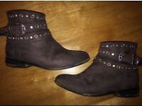 Next Girls Grey Boots Size 13