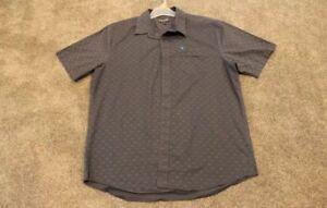 Volcom Grey Shirt Dress Button Up Short Sleeve