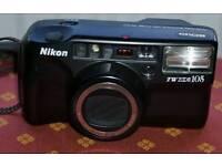 "Used NIKON ""TW 105"" compact film camera."