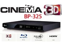 LG BP 325 BluRAy DVD player smart/external HDD