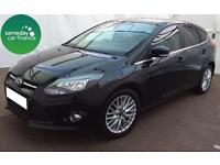 £191.14 PER MONTH BLACK 2014 FORD FOCUS 1.6 TDCi ZETEC 5 DOOR DIESEL MANUAL