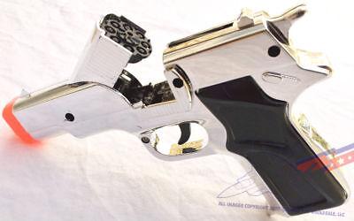 Toy Gun Military Detective 9MM Pistol Cap Guns - SILVER (Plastic Toy Guns)