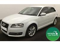 ONLY £173 PER MONTH WHITE 2012 AUDI A3 1.2 T FSI SPORT S/S 5 DOOR PETROL MANUAL