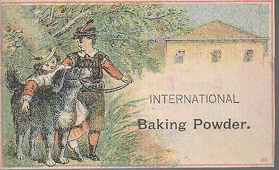 TRADE CARD-INTERNATIONAL BAKING POWDER, QUEEN CITY CHEMICAL COMPANY, BUFFALO, NY](Party City Buffalo)