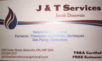 J & T gas services heating and air conditioning