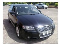 2006 Audi A3 Tdi, Diesel, Special Edition in jet black. MOT May-2018. Stunning car.