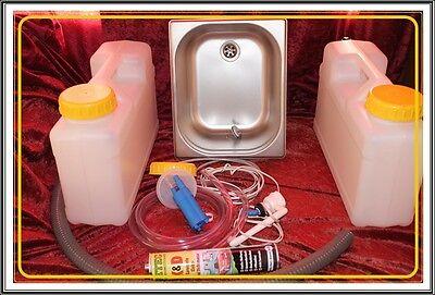 Miniküche  Bausatz Campingküche  Technikpaket + Spülbecken 325x265x150mm