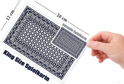 40 x XXL blau ca Din A5 Spielkarten Poker Karten Jumbo  Rommé  Bridge Skat