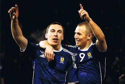 Signed Scott Brown & Kenny Miller Scotland Autograph Photo Celtic Rangers