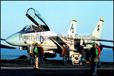 F-14 Tomcat VF-142 Prepares For Launch 1983 8x12 Aircraft Photos