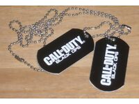 CALL OF DUTY BLACK OPS PROMOTIONAL DOG TAGS GREAT GIFT