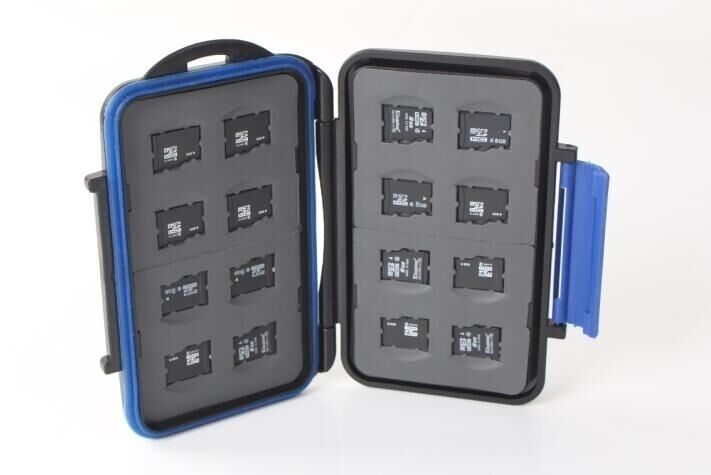 ZTC Memory Card Travel Case 16 x microSD Cards Rugged Waterproof and Shockproof