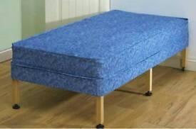 Single Waterproof Bed On Wooden Legs