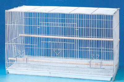 "24"" NEW Aviary Canaries Budgies Bird Breeder Breeding Cage 24x16x16H WHT - 248"