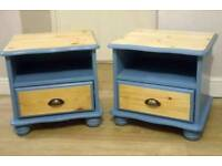 Upcycled Pine Bedside units (pair)