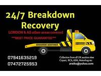 CAR BREAKDOWN RECOVERY TOW TRUCK TOWING TRANSPORT M25 M4 M40 M1 A40 A406 A1 A12 A4 JUMP START