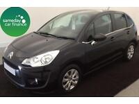 £104.64 PER MONTH - BLACK 2010 CITROEN C3 1.4 I VTR+ 5 DOOR MANUAL PETROL