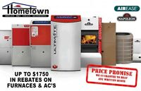 CANADIAN MADE FURNACES INSTALLED FOR AS LOW AS $1100 TAX IN