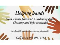 Painter/cleaner and light removals..