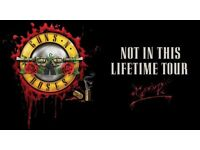 2 Guns N Roses Tickets - Standing - Sat 17 June Olympic Stadium London