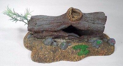 2002 BRPP Detailed Ceramic Hollow Log Hiding Spot Aquarium Fish Tank Decoration