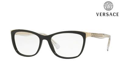 VERSACE Glasses Frames VE3255 (GB1) Black / Gold RRP £180