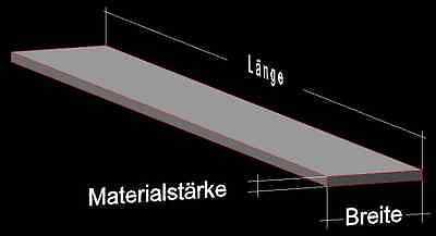 Flachstange Aluminium AlMgSi0,5 Profil Aluprofil Flach ALU Stange Flachmaterial