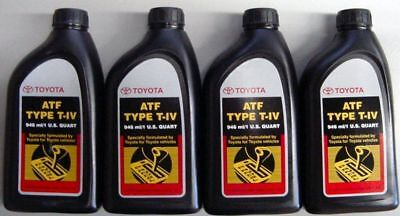 4 QUARTS of FACTORY OEM TOYOTA ATF T IV AUTOMATIC TRANSMISSION FLUID OIL LEXUS
