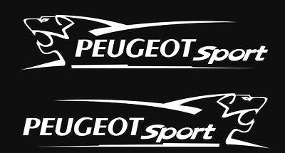 2 LARGE peugeot sport car bonnet side stickers vinyl graphics decals L+R SIDES
