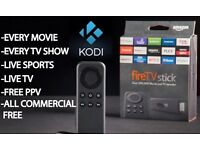 Amazon Fire Stick for tv FULLY LOADED with KODI