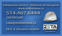 Renovation. / Construction.  Zeta Batisseur Inc.