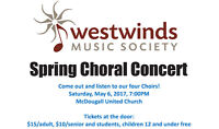 Westwinds Music Society Spring Choral Concert