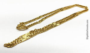 "24K Yellow Gold 20"" Chain. Over 19g. Appr'd $4,200."