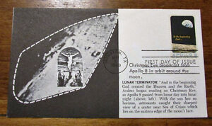 1969 APOLLO 8 FIVE (5) Different 6 Cent First Day Covers Kitchener / Waterloo Kitchener Area image 3