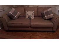 3 seater fabric sofa very comfy