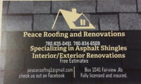 Roofing anywhere in the peace county