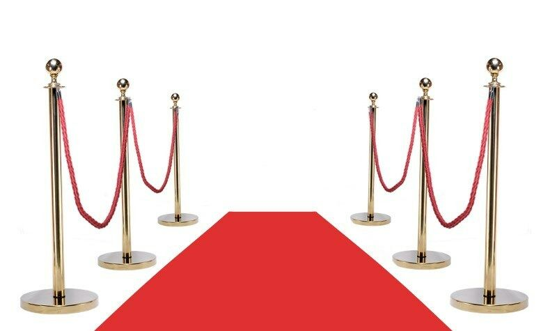 VIP RED CARPET COMBO SPECIAL (6-GOLD POSTS + 4-ROPES + 1-3
