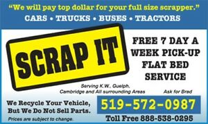 Wanted Cars, Trucks and Vans, Scrap or Not. Scrap It.