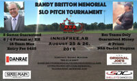Randy Britton Memorial Slo Pitch Tourney -  NSA Carded Umpires