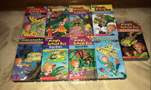 The Magic School Bus VHS Video Cassette Tapes Lot of 9 Used New