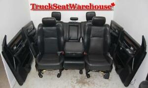 2016 Dodge Ram Laramie BLACK LEATHER Front Rear Truck Seats