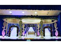 Wedding decoration , wedding mandap, wedding stages, chair covers, Centerpices, crockery