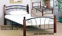 MIKES GOT THIS BED & MATTRESS JUST $169-SEE OTHER STYLES HERE