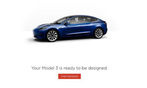 2018 Tesla Model 3 Ready To Be Configured DELIVERY in 4-8 WEEKS