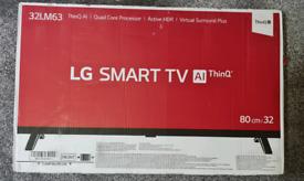 """Brand New LG32LM6300PLA ThinQ 32"""" Smart Full HD HDR LED TV"""